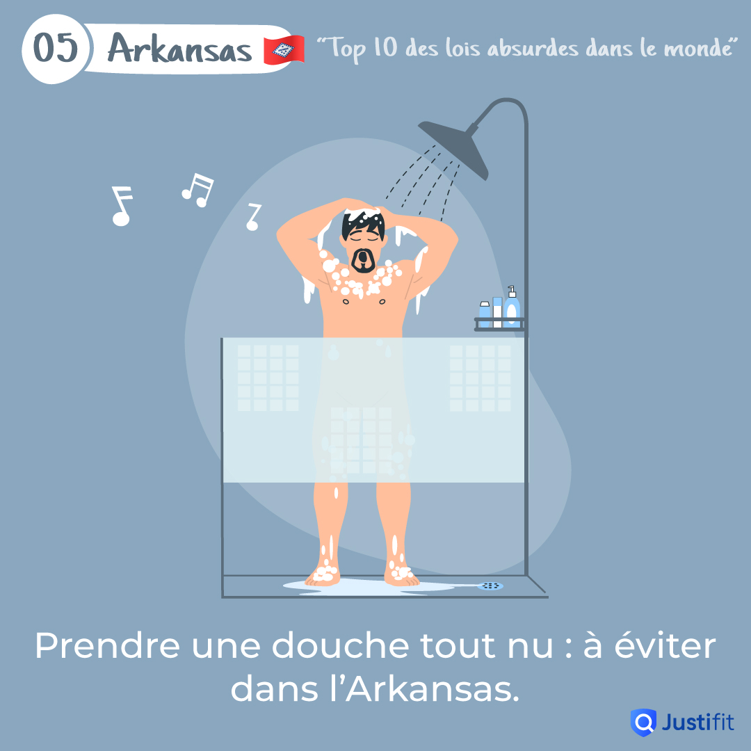 """Alt=""""Prendre une douche tout nu: à éviter dans l'Arkansas"""""""