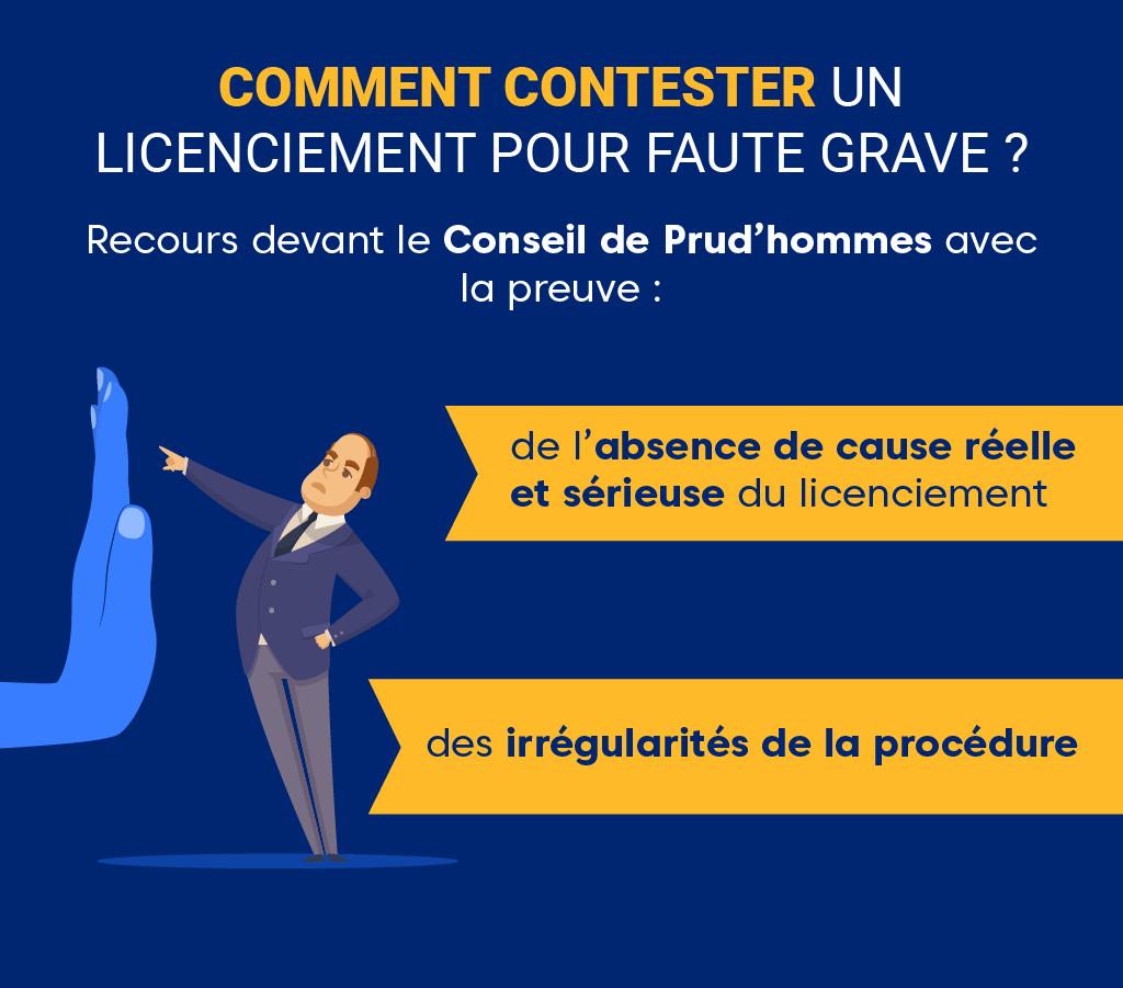 """Alt=""""Licenciement pour faute grave - Contestation"""""""